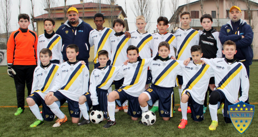 Amad Traoré (back row, 4th from left) with his youth team Boca Barco