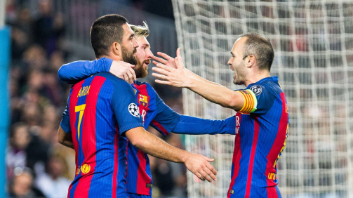 Arda Turan, Iniesta,Lionel Messi