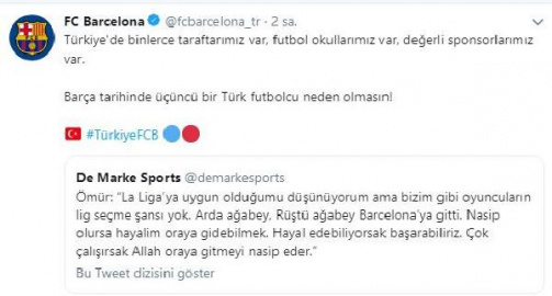Barcelona twitter hesabı