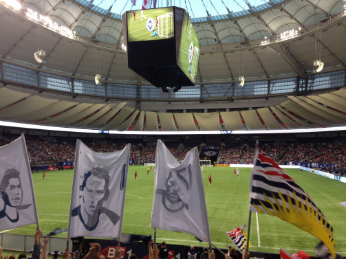 BC Place from the inside