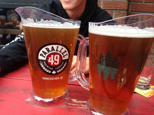 A pitcher of Parallel 49 beer
