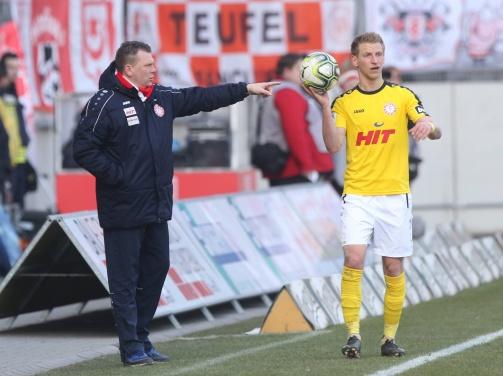 Fortuna-Trainer Koschinat setzt auf Dominik Ernst.
