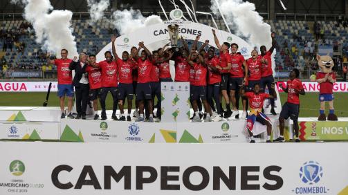 Die ecuadorianische Nationalmannschaft feiert den Titel