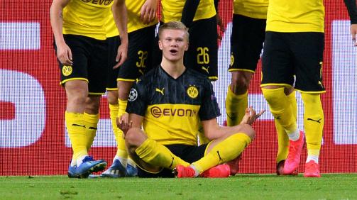Erling Haaland starred for Dortmund against PSG