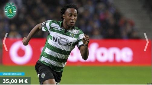 Gelson Martins em 1° lugar: Os jogadores mais valiosos da Liga NOS na fotogaleria do Transfermarkt ©imago