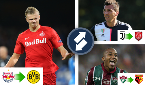 Haaland, Mandzukic & Co. - the top winter transfers so far