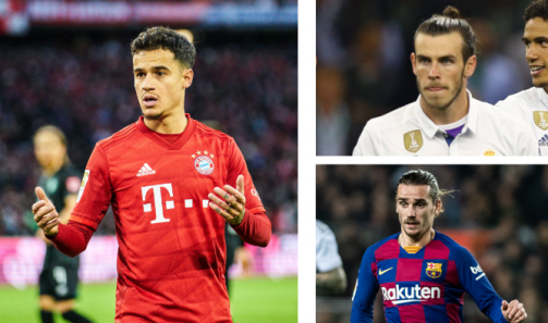 Coutinho, Bale & Co. - the biggest market value losers