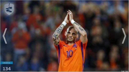 © imago images/TM - In der Galerie: Die Rekordnationalspieler der Niederlande mit Wesley Sneijder