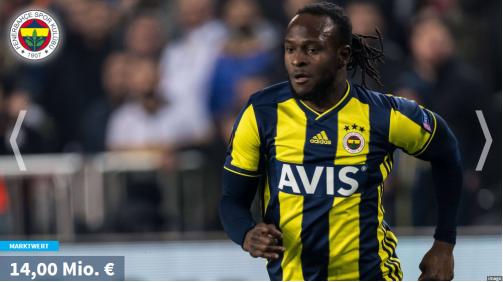 Moses weiter vorn: Die wertvollsten Süper-Lig-Spieler in der Galerie