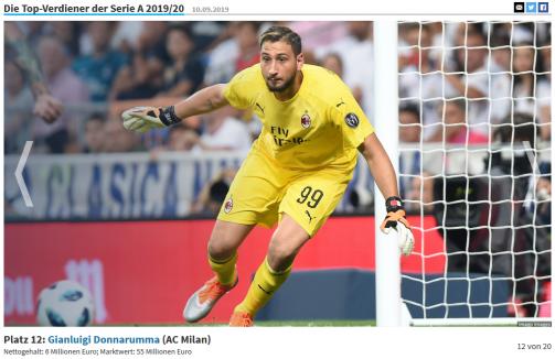 Die 20 Top-Verdiener der Serie A 2019/20
