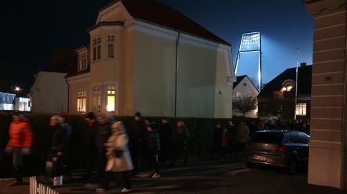 © Matthias Mund / Nach Hause geht's durchs Wohngebiet: Das Aalborger Stadion ist inmitten eines schönen Viertels gelegen