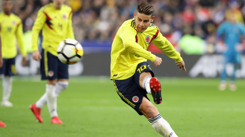 Kolumbien-Star James Rodríguez in Aktion
