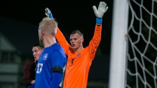 © EJL / Karl Hein in goal for Estonia's U-21 national team