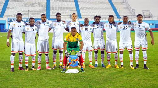 Die Nationalmannschaft der DR Kongo im Oktober 2017 (Foto: imago)