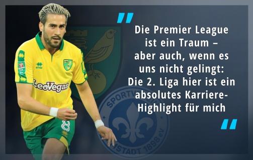 © imago/Transfermarkt - Mario Vrancic von Norwich City im Transfermarkt-Interview: Die Premier League ist ein Traum, die Championship aber ebenso ein Highlight seiner Karriere