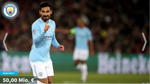 © imago images/TM - Galerie mit Ilkay Gündogan von Manchester City: Die wertvollsten deutschen Spieler