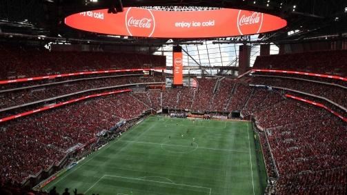 © imago - Das Mercedes Benz Stadium bietet bis zu 71.000 Besuchern Platz