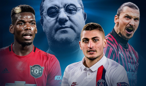 Pogba, Ibrahimovic & Co.: These players are represented by Raiola