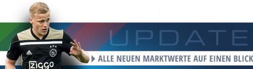 Auf einen Blick: Zu den Marktwertänderungen der Eredivisie inkl. Donny van de Beek von Ajax Amsterdam