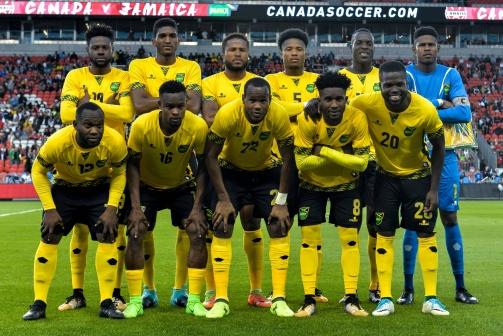 © imago / Jamaikas Mannschaft bei einem Freundschaftsspiel im September 2017