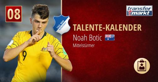 """Talente-Kalender   Noah Botic: Australiens Sturmhoffnung will """"in Hoffenheim in der Bundesliga ankommen"""""""