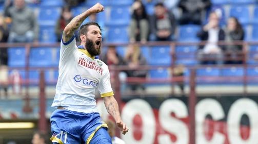 © imago / Großes mediales Echo erhielt Oliver Kragl erstmals für sein 40-Meter-Freistoßtor gegen Milan im Mai 2016 - da noch für Frosinone Calcio