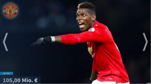 © imago/Transfermarkt - Paul Pogba auf der 1: Die teuresten Premier League-Zugänge