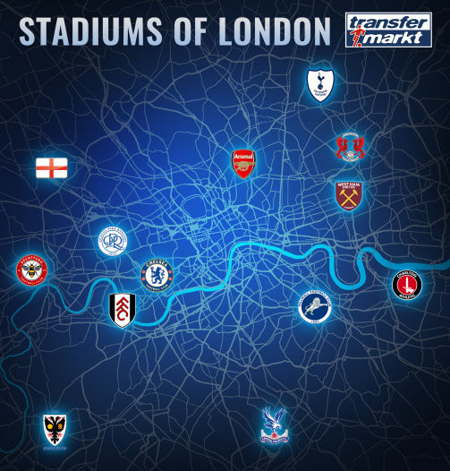 All 13 EFL grounds in London