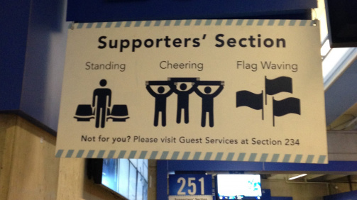 Vancouver Whitecaps' Supporters' Section