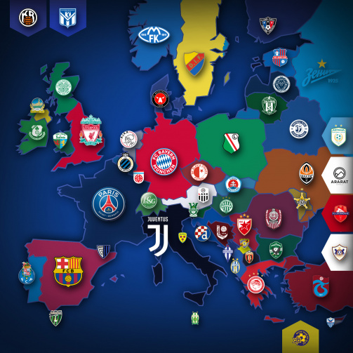 Europe's league leaders at a glance