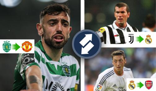 Fernandes vorerst auf 7, Zidane 2.: Teuerste OMs der Geschichte