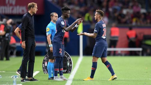 Unter Neu-Coach Tuchel kam Weah im Star-Ensemble um Neymar nur zu Saisonbeginn zum Einsatz