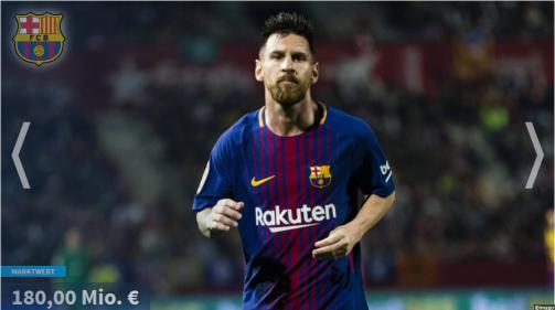 © imago/Transfermarkt - Lionel Messi weiter an der Spitze: Die wertvollsten Spieler in der Galerie