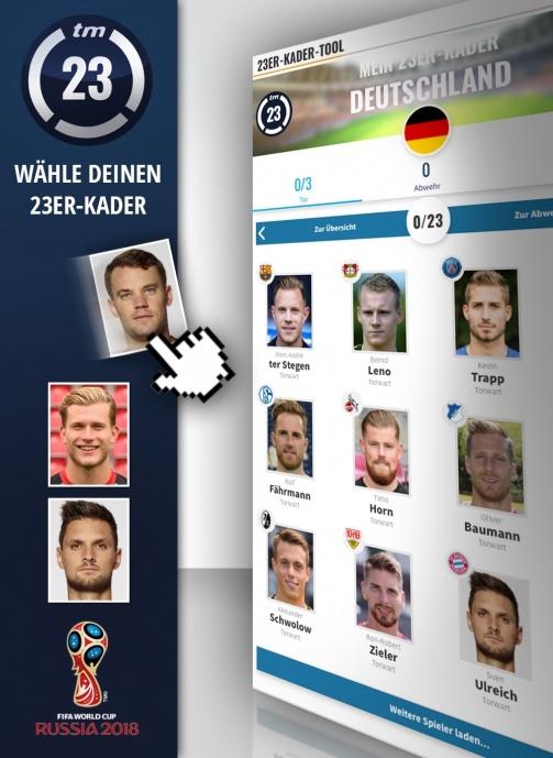 Wagner oder Gomez, Reus und Götze? Stelle jetzt deinen WM-Kader auf