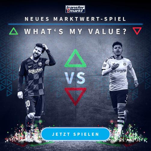 """Teste dein Marktwert-Wissen im neuen """"What's my value?""""-Spiel"""