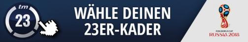 © Transfermarkt / Wähle jetzt deinen 23er-Kader für die WM 2018