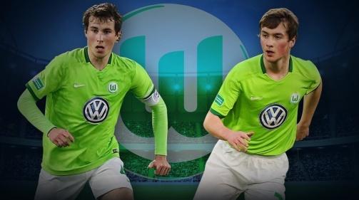 Die Wolfsburger Nachwuchsspieler Nick (l.) und Yari Otto
