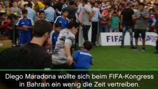 FIFA-Kongress: Kind grätscht Diego Maradona um