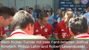 Bayern-Trio macht auch am Kicker gute Figur