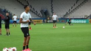 U21-EM: Davie Selke bricht Abschlusstraining ab