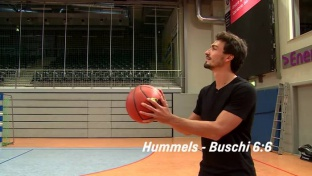 Hummels vs. Buschmann: Basketball-Shootout