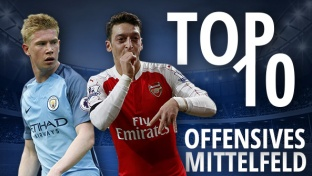 Top 10: Die wertvollsten Mittelfeldspieler (OM) der Welt