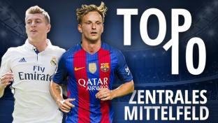 Top 10: Die wertvollsten Mittelfeldspieler (ZM) der Welt