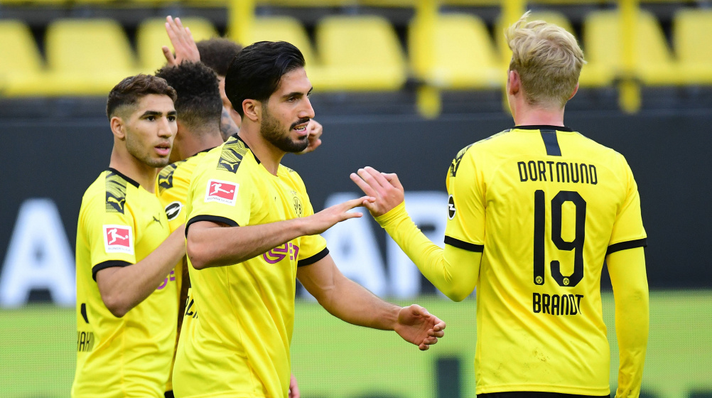 Emre Can the hero - Borussia Dortmund secure second spot with win ...