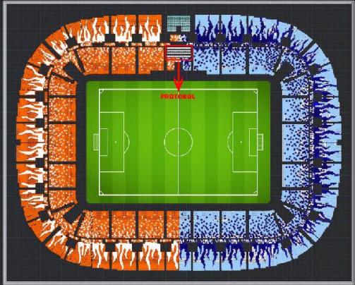Adana'da yeni stadın koltuk renkleri