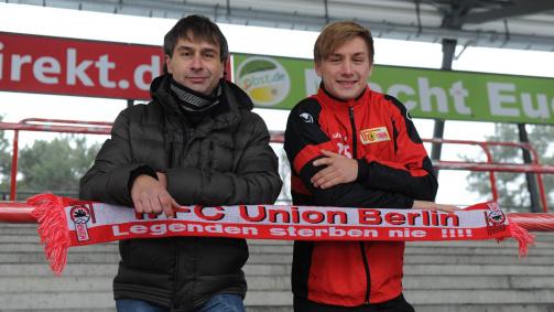 Bernd Jopek mit Sohn Björn an der Alten Försterei