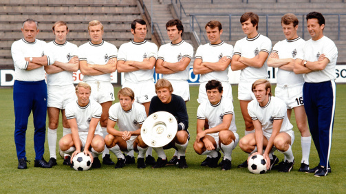 Kaderliste: Borussia Mönchengladbachs Meistermannschaft 1969/70 nach Leistungsdaten
