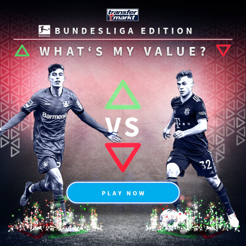 "Play the Bundesliga edition of ""What's my value?"" now!"