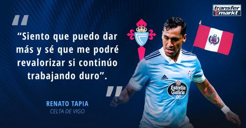Renato Tapia, en entrevista con Transfermarkt.