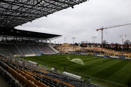 © imago images - Derzeit noch eine Baustelle: Das Florian-Krygier-Stadion in Stettin